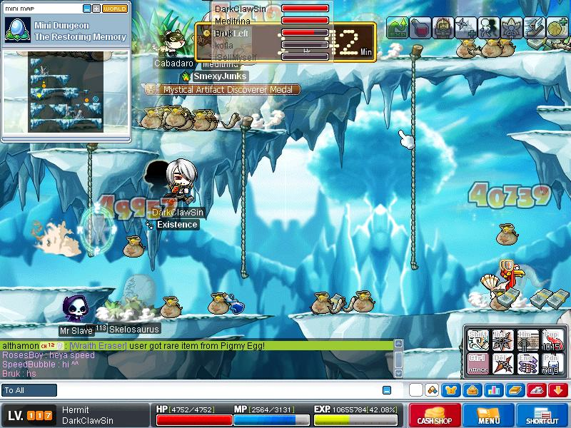 me when grinding on skeles ^^ Maple012