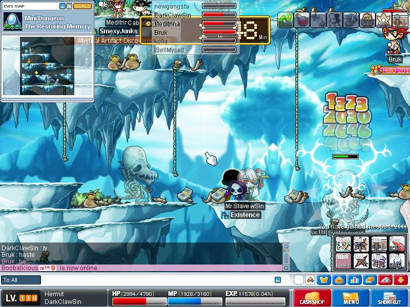 me when grinding on skeles ^^ Maple013