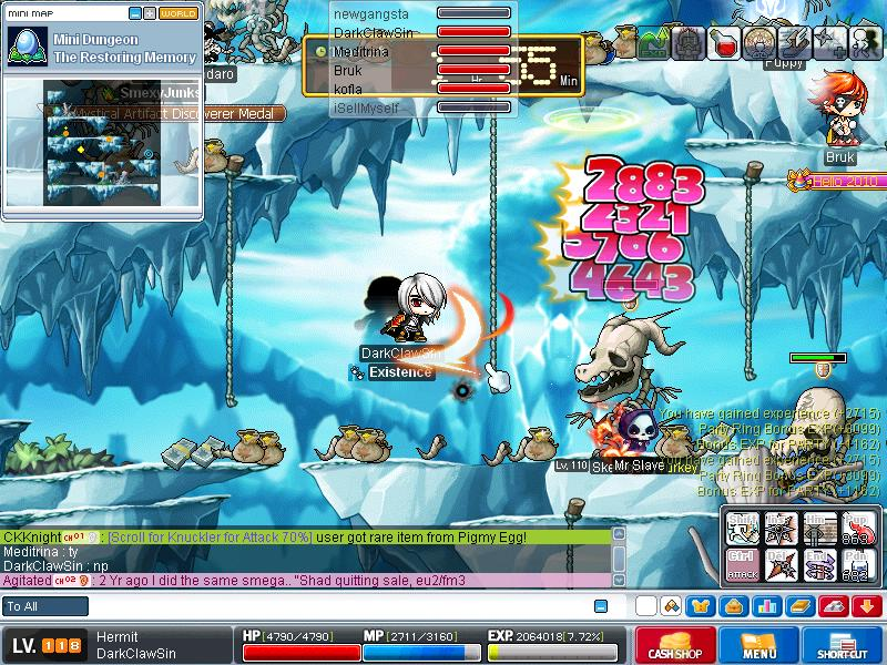 me when grinding on skeles ^^ Maple014