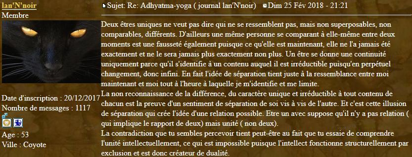 Marqueurs de l'Adhyatma Yoga 2018-019