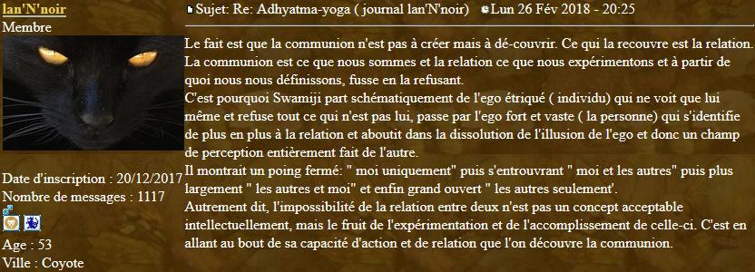 Marqueurs de l'Adhyatma Yoga 2018-027