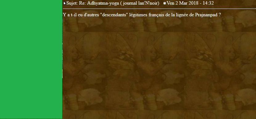 Marqueurs de l'Adhyatma Yoga 2018-034