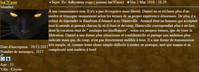 Marqueurs de l'Adhyatma Yoga 2018-037