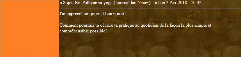 Marqueurs de l'Adhyatma Yoga 2018-038