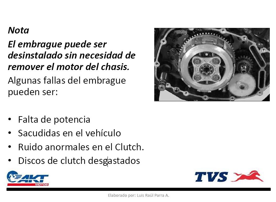 MANUAL DE SERVICIO DE EMBRAGUE O CLUTCH RTR 160/180 Captur10