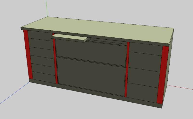 Meuble de cuisine - Quelles sections pour la structure ? Meuble11