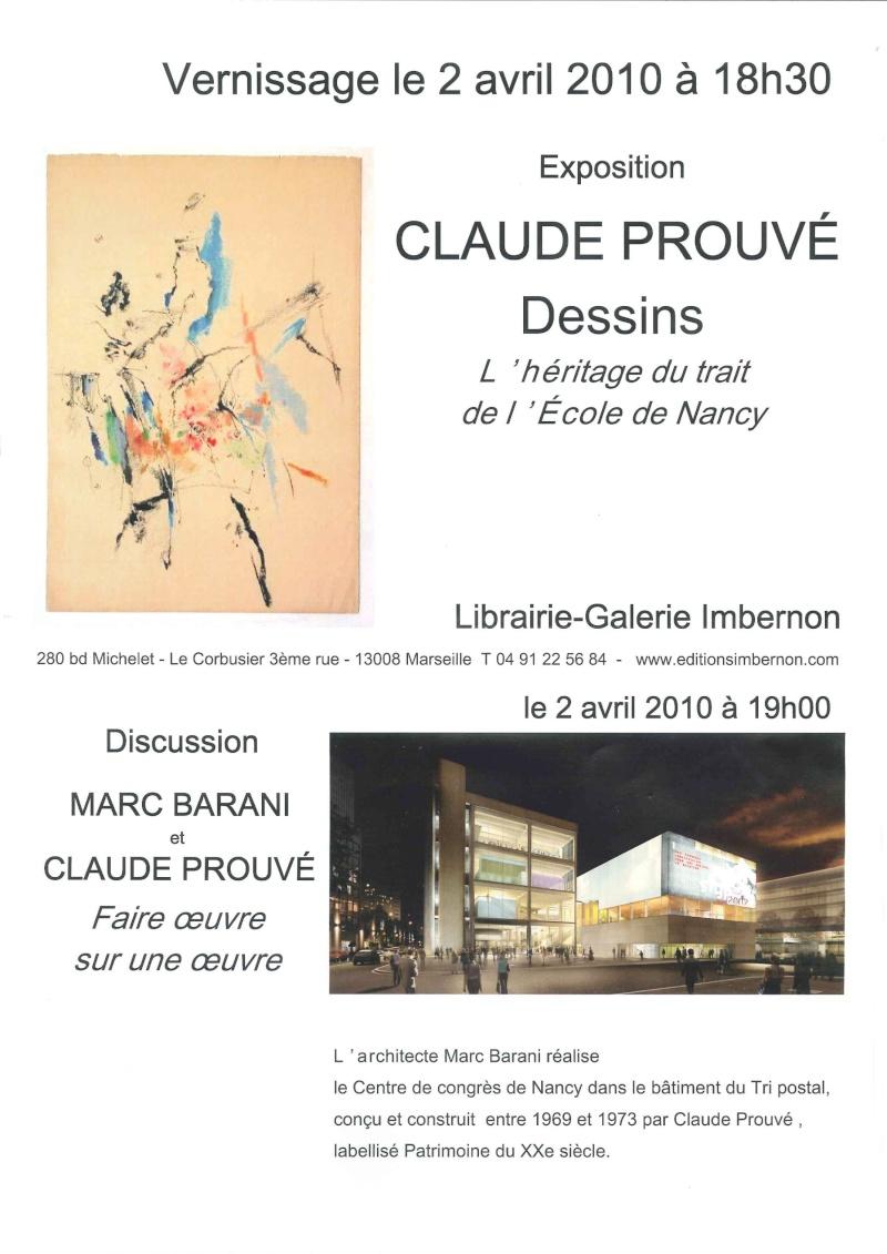 Faire Oeuvre sur une oeuvre - Claude PROUVE et Marc BARANI Claude12