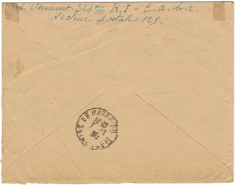 lettre recommandée et franchise postale 1939_r11