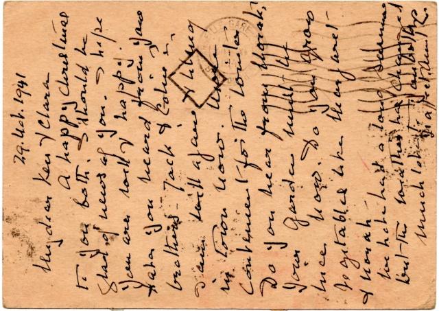 Croix ou lignes parallèles,au tampon, sur étiquettes PAR AVION 1941_u10