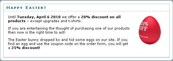 Yet another Slysoft Promo - Expires 6th April Screen14