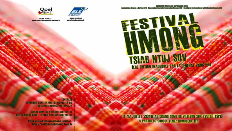 GN.Vaj Pov Solidarité Hmong de France tos txais Général Vang Pao hnub tim 17/07/2010 nyob Villebon/sur/Yvette Paris(91) 28582511