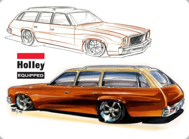 Holley Building a LS powered 74 Malibu Wagon 1974ch10