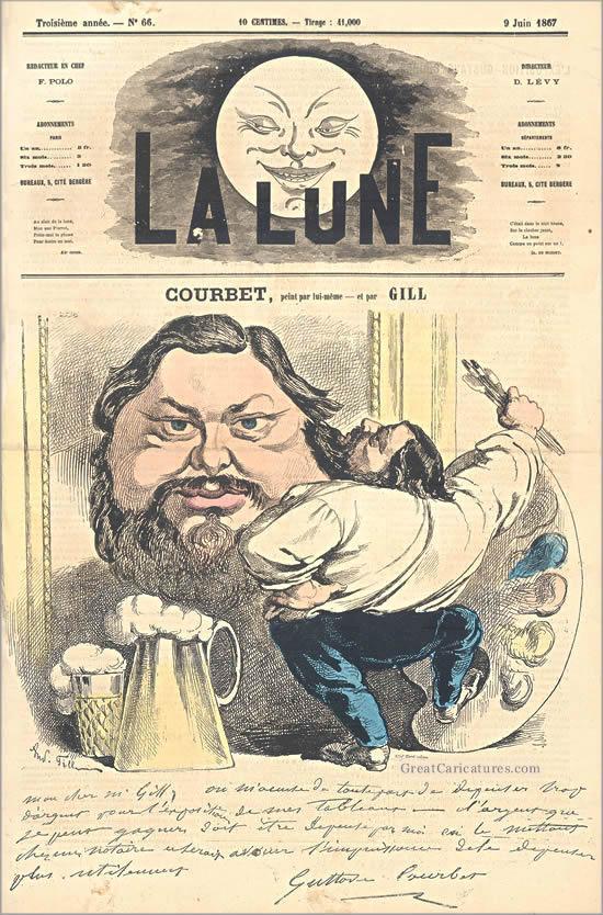 Courbet Gustave: autoportraits, portraits photographiques et caricatures du peintre - Page 3 1867_c11