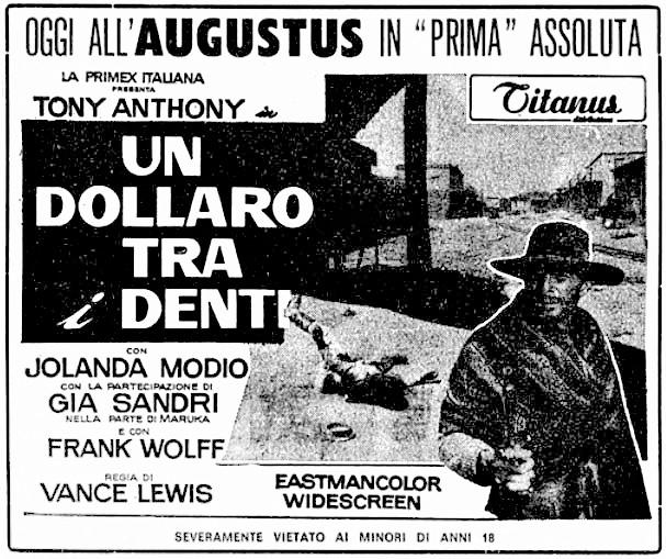 Un dollar entre les dents - Un dollaro tra i denti - Luigi Vanzi - 1967 13_01_10