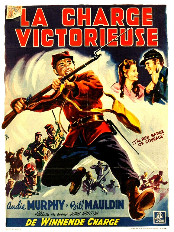 La Charge Victorieuse - The Red Badge of Courage - 1951 - John Huston Affich10