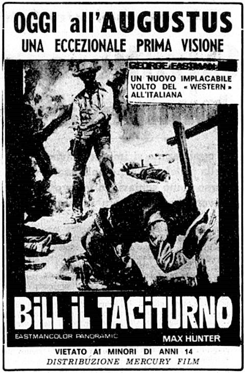 Django le taciturne (Bill il taciturno) - 1969 - Max Hunter (M. Pupillo)  Bill-i10