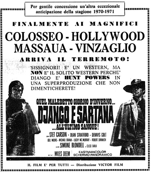 Django et Sartana - Quel maledetto giorno d'inverno... Django e Sartana all'ultimo sangue - 1970 - Demofilo Fidani Django16