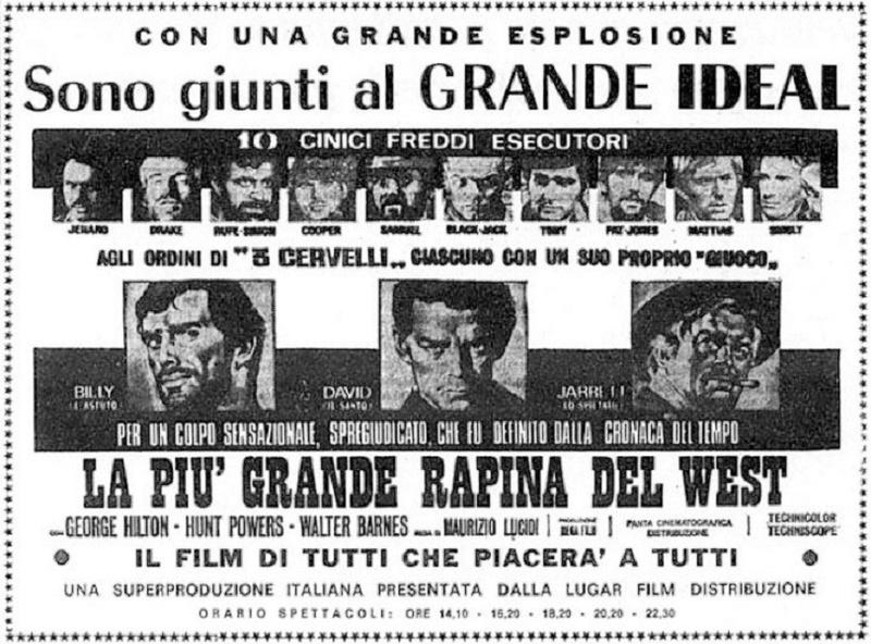 Trois salopards, une poignée d'or ( La piu grande rapina del west ) –1967- Maurizio LUCIDI La-pic10