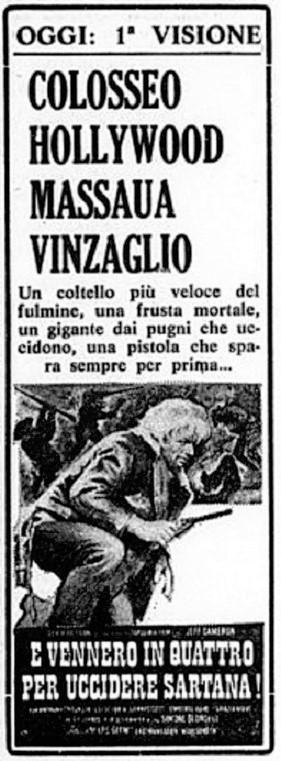 Quatre pour Sartana - E Vennero in Quatro per uccidere Sartana - Demofilio Fidani - 1969 Quattr10