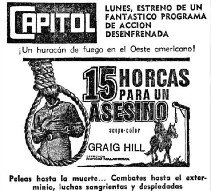 Quinze potences pour un salopard -  Quindici forche per un assassino - 1967 - Nunzio Malasomma - Page 2 Snapsh50