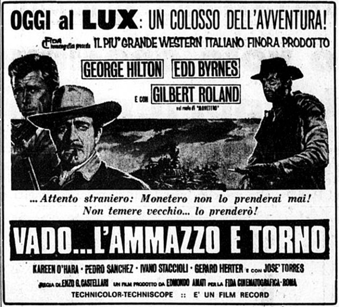 Je vais , je tire et je reviens . 1967 . Enzo G. castellari . - Page 2 Vado-l10