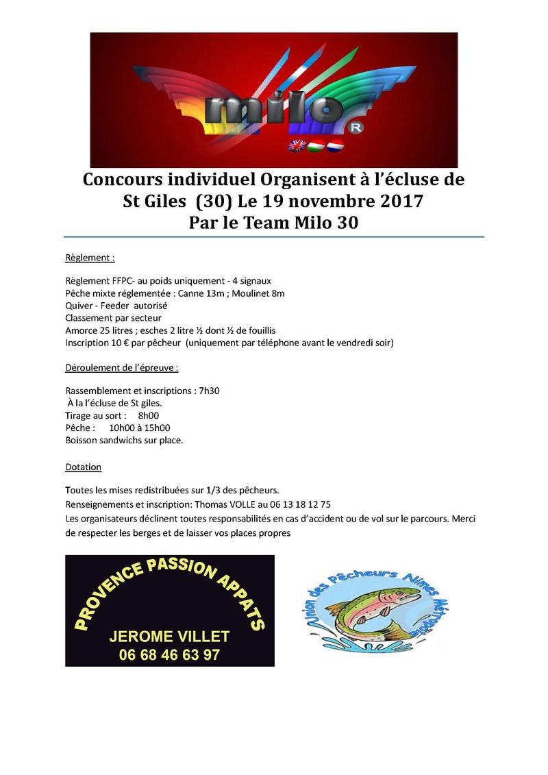 Concours écluse de St giles 19/11 organisée par le team milo 30 Concou10