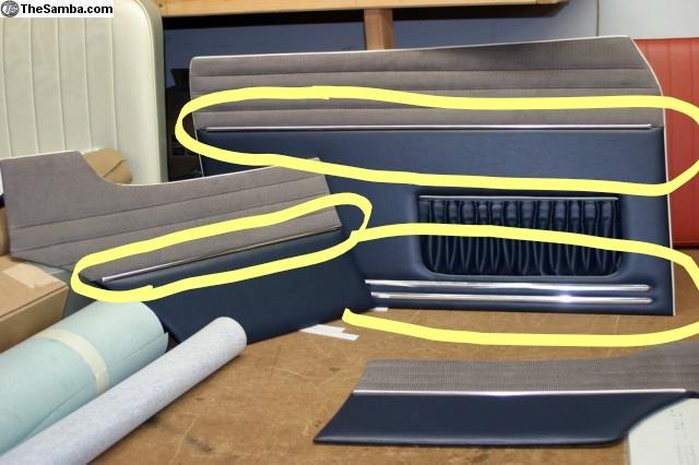 baguettes garnitures panneaux de porte 73456710