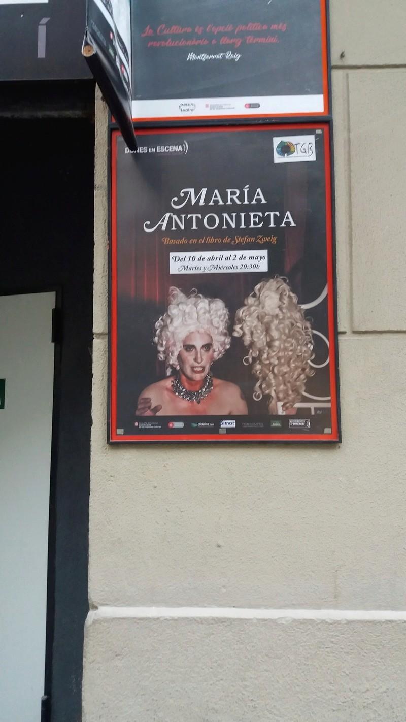 Théâtre à Barcelone - Marie-Antoinette 20180410