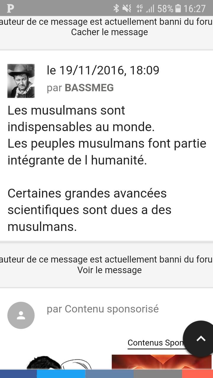 Bassmeg, une administratrice du forum docteur angélique - apologie du spiritisme, du pendule, nécromancie et autres sujets démoniaques.  Screen10