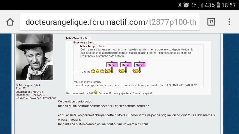 Bassmeg, une administratrice du forum docteur angélique - apologie du spiritisme, du pendule, nécromancie et autres sujets démoniaques.  Screen12