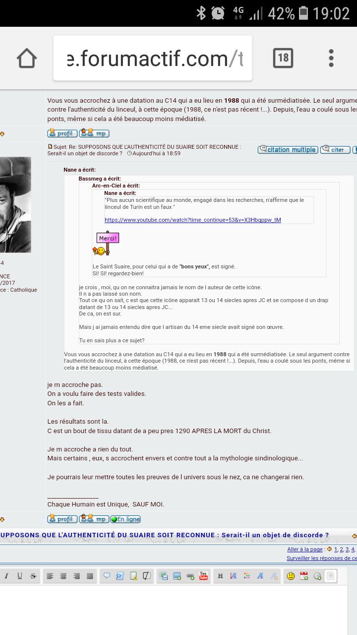 Bassmeg, une administratrice du forum docteur angélique - apologie du spiritisme, du pendule, nécromancie et autres sujets démoniaques.  Screen13