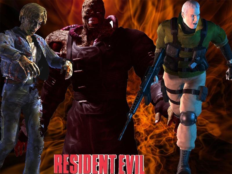Resident evil clásico; fondo creado por mí. Reside10