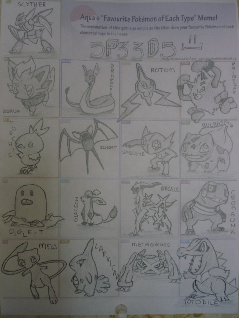 Draw your favorite Pokémon of each type~~~ - Page 2 P1000111