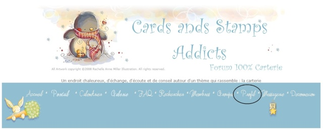 Forum Cards and stamps addicts - Portail Profil10