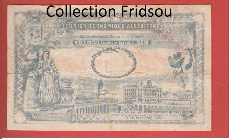 1,5 et 10 Francs Union économique oranaise et algérienne  Algérie  210