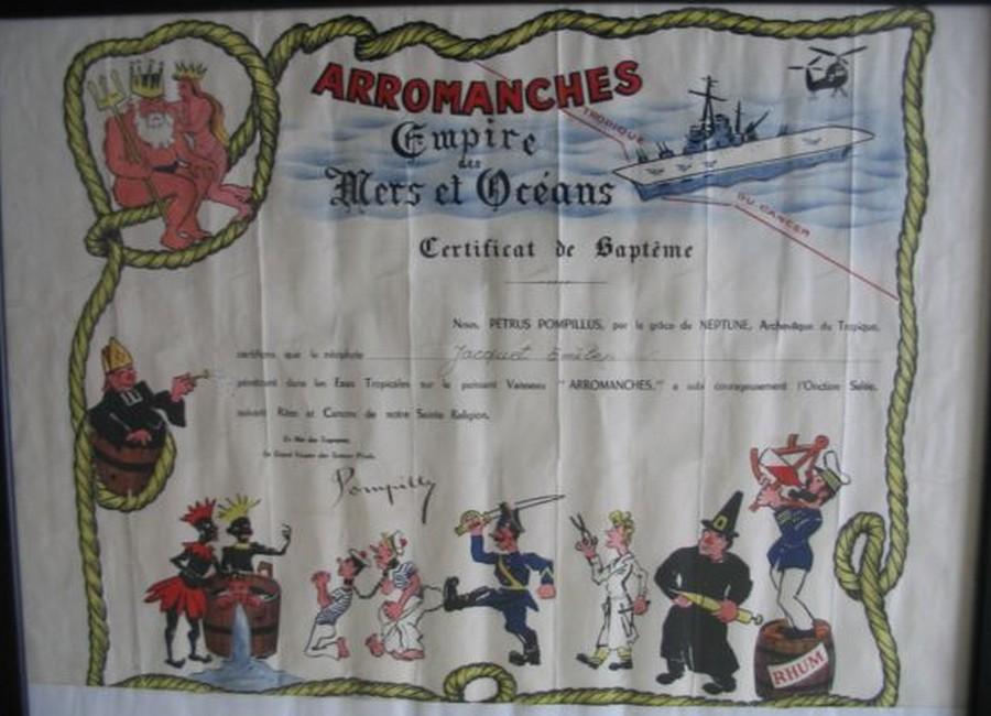 [ Les traditions dans la Marine ] Les diplômes de la Ligne - Page 4 Baptem10