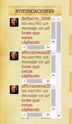 Inconveniente con Mostrar notificaciones en widget personalizado. Quiero eliminar los avatares Sin_ty13