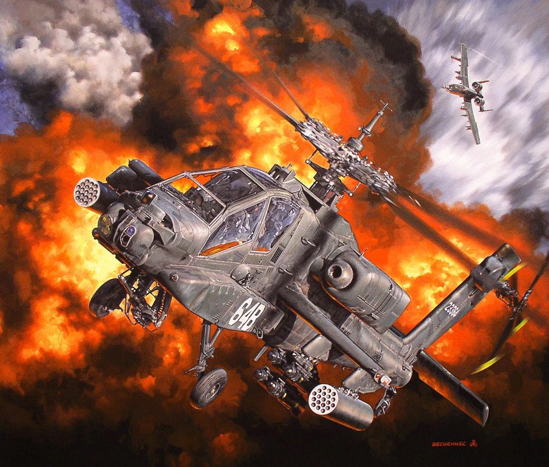 SPECIAL ILLUSTRATIONS HELLER : HELICOS Apache11