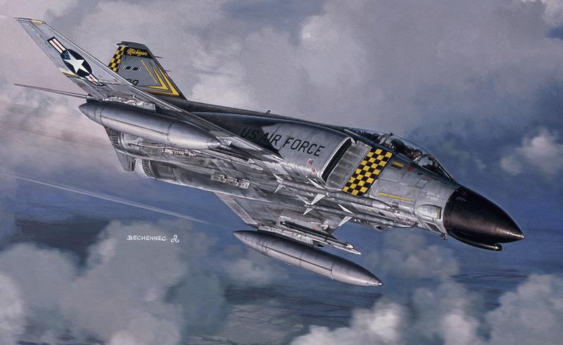 SPECIAL ILLUSTRATIONS HELLER : AVIONS D'AILLEURS. F-4_mi10
