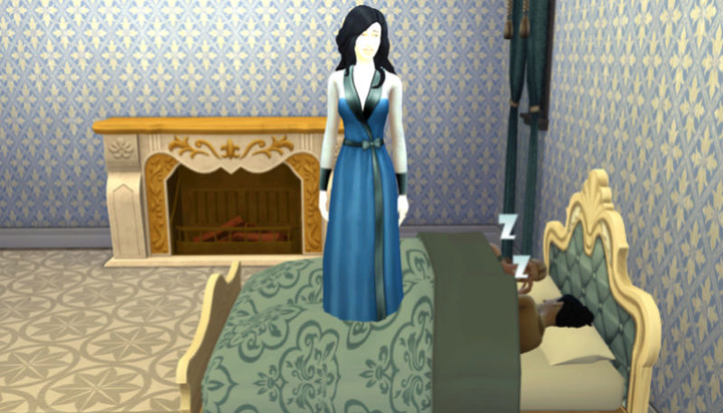 Sims stand on beds and drawers  11-12-10