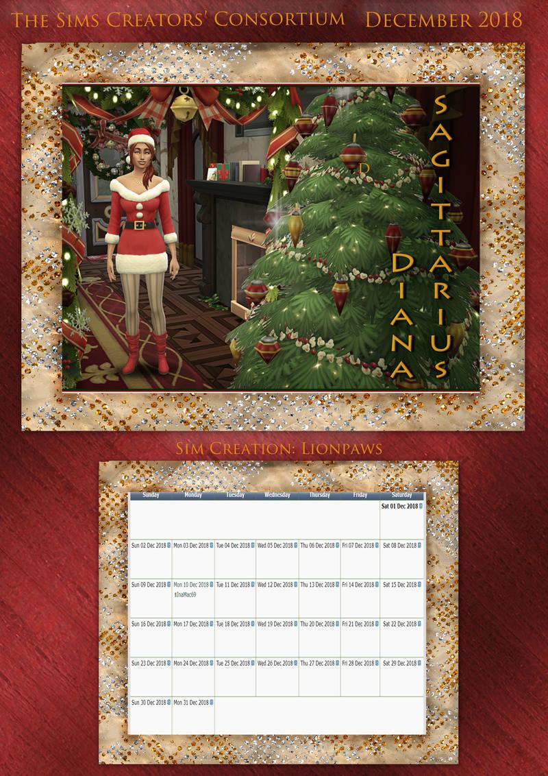 2018 TSCC Calendar: December 2018 Decemb13