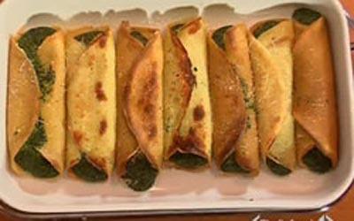Crepes Spinaci e Besciamella di Cotto e Mangiato Crepes10