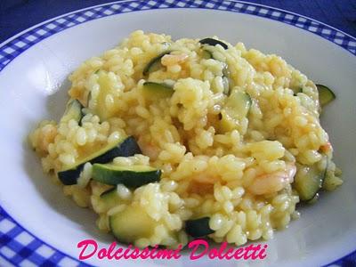 Risotto dorato con gamberetti e zucchine  Dscf8010