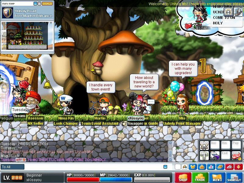 Hacker , n Insults th server =D Maple014