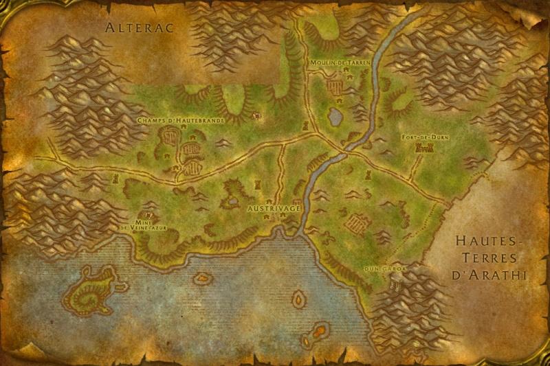 Carte des Royaumes de l'Est: Contreforts de Hautebrande Hillsb10