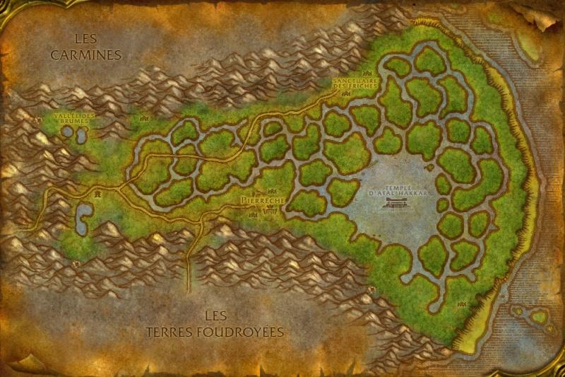 Carte des Royaumes de l'Est: Marais des Chagrins Swampo10