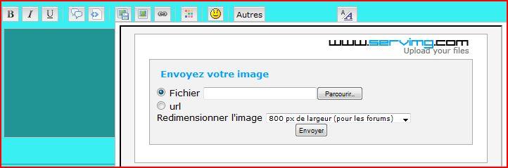 Tutoriel pour insérer une image ou créations dans une réponse ou nouveau message Captur10