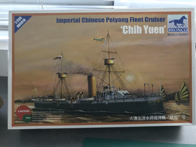 IMPERIAL CHINESE PEIYANG FLEET CRUISER- Chih Yuen - Bronco 1/350 9lhswl10
