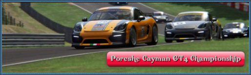 "Porcshe Cayman GT4 Championship"""