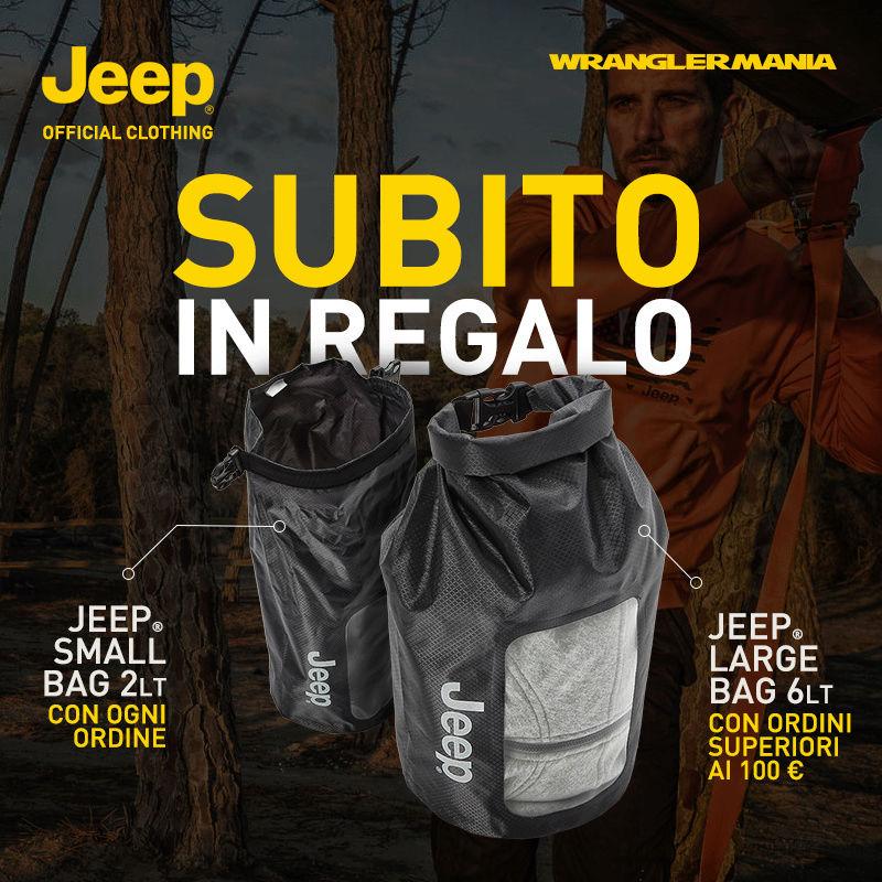 Subito in regalo la Jeep Bag, scopri come!  Jeepou15
